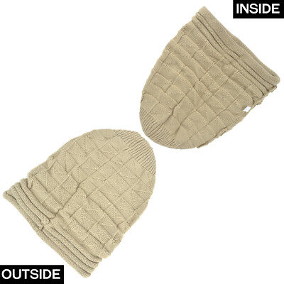 New Acrylic Unisex Chunky Knit Beanie Slouchy Hand Knit Hat Beanie Winter Hats 7