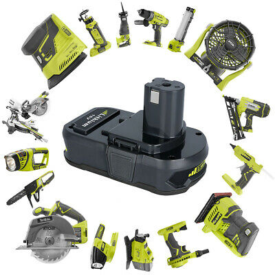 For Ryobi P107 One+ 18 Volt Compact Lithium 2500mAh Battery P106 P102 P105 P109 9