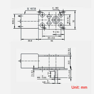 DC6V 12V 24V 0.6-200RPM Micro Worm Gear Reducer Motor with Metal Gearbox 32GZ370 5