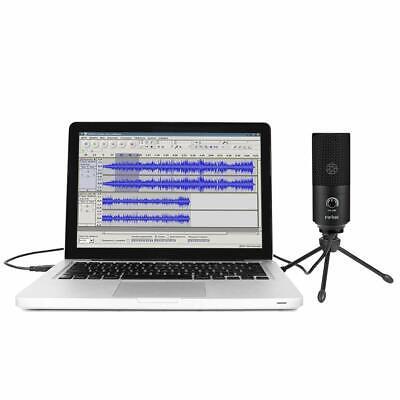 USB-Mikrofon Metall Kondensatormikrofon für PC/Laptop Aufnahmemikrofon Kardioid 7