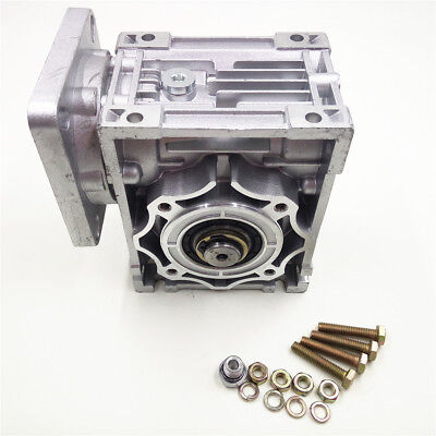 NMRV040 Worm Gearbox Geared Speed Reducer 14mm Input for 60/80/86/90 Motor 5
