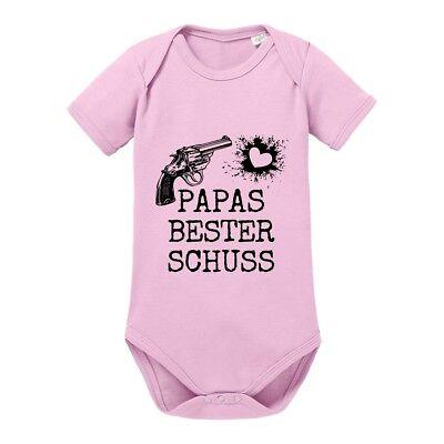 "Kinder - Babybody Modell: ""PAPAS BESTER SCHUSS"" 100% Baumwolle"