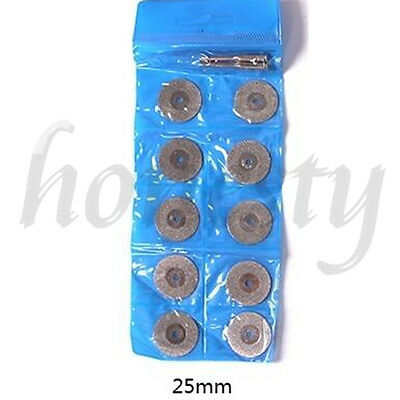 10pcs Diamond Saw Blade Cutting Disc Rotary Wheel Grinding +2 Mandrel Dremel 10