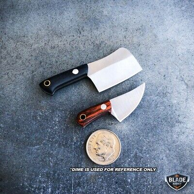 WORLDS SMALLEST WORKING FIXED BLADE KNIFE! Tiny Miniature CLEAVER Pocket Knife 4
