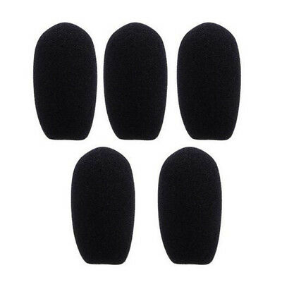 10pcs  Black Microphone Headset Foam Sponge Windscreen Mic Cover 6 Sizes 7