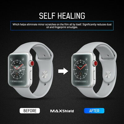 MaxShield Screen Protector for Apple Watch Series 2/3/4/5 38/42mm 40/44mm iWatch 7