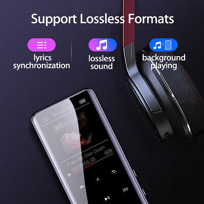 16GB bluetooth MP3/MP4 Music Player Lossless Sound Portable FM Radio Voice AU 🔥 4