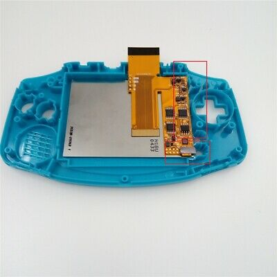 V2 IPS Backlight Backlit LCD For Game Boy Advance GBA and Pre-cut Shell Case 4