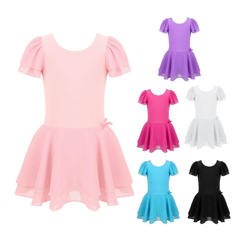 d74f9548d UK GIRLS CHILD Leotard Ballet Dance Dress Tutu Skirt Dancewear ...