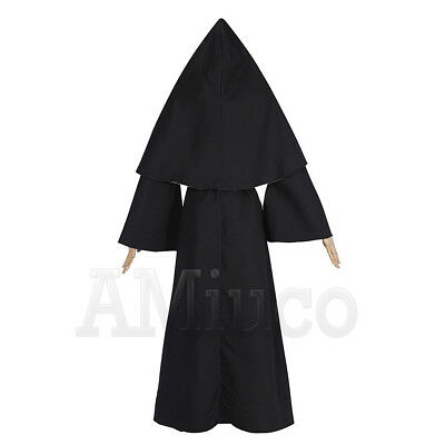 Women Nun Robes Dress For The Conjuring Scary Suit The Nun Valak Cosplay Costume 4