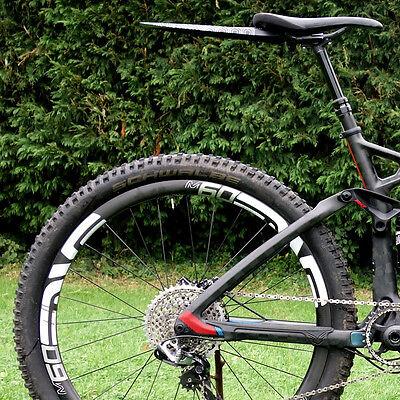 MTB Rear Mudguard Mountain Bike Ass Fender RideGuard Clip On PF2 UK Made Blkbird