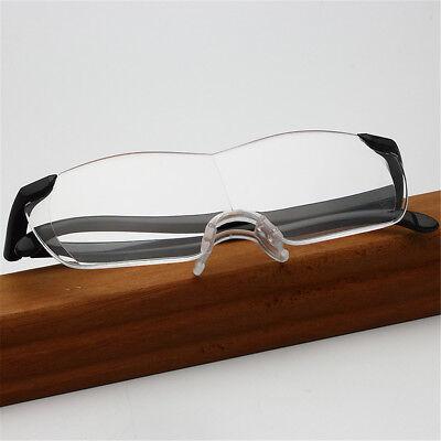 160% Vergrößerungsbrille Lupenbrille Zauberbrille Brille Lupe Vergrößerung Etui 8