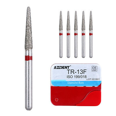 Top 100pcs Dental Diamond Burs for High Speed Handpiece Medium FG 1.6M AZDENT