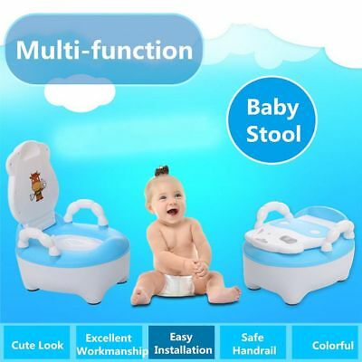 Training Potty Trainer Safety Kids Baby Toddler Toilet Cute Cartoon Seat Chair 5