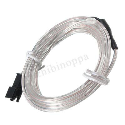 2M 10M LED Flexible Neon Light Glow EL Strip Tube Cool Wire Rope Home Car Decor 3