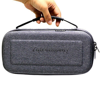 For Nintendo Switch Travel Carrying Case Gray Bag+2M Charging Cable+Clear Screen