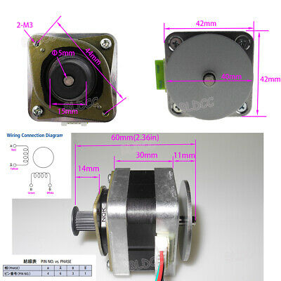 Minebea 2-Phase 4-Wire High Quality Hybrid Stepping Motor 42 Stepper Motor GT 2