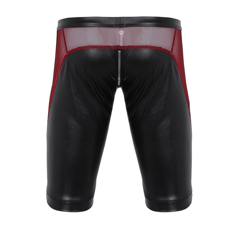 Herren Boxer Shorts Briefs Bikinihose mit Reißverschluss Unterwäsche Badehose 7