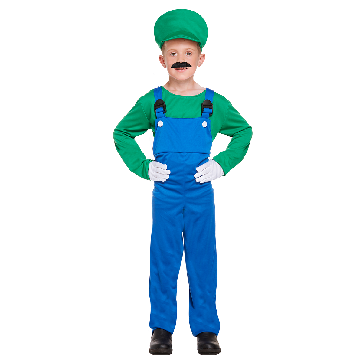 Children S Super Mario Bros Luigi Costume Kids Book Week Red Green