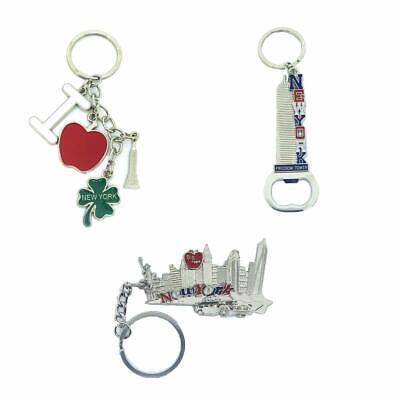 12 Pack New York City Silver Metal Keychains NYC  KeyRing Souvenir  Gift Set 5