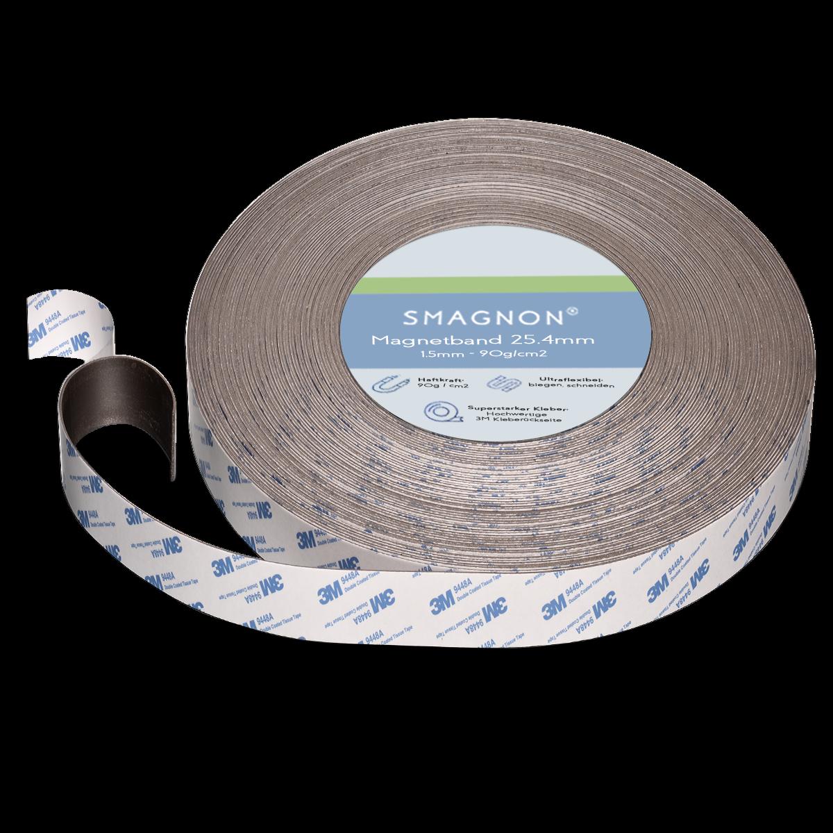 Magnetband mit 3M-Kleber selbstklebend Fliegengitter Band Magnetfolie Klettband 6