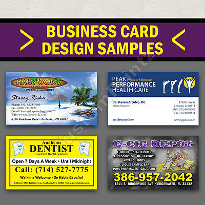 100 Custom Full Color Business Cards | 16Pt | Matte Dull Finish | Free Design 4