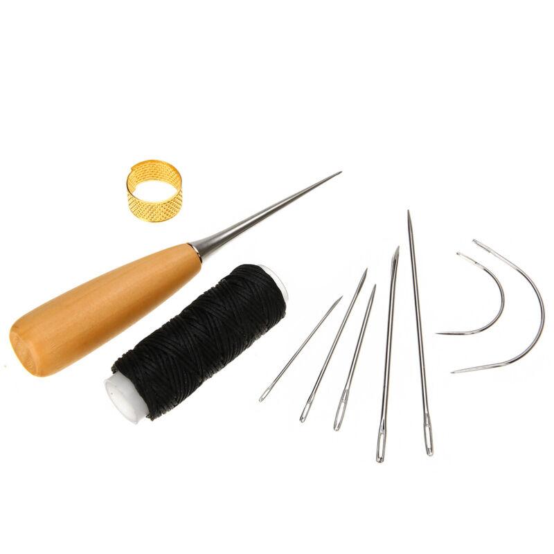 7Pcs/set Aiguilles à coudre goupilles Cuir Ciré Couture Outil en cuir à Main 2