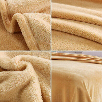 Luxury Large Flannel Fleece Reversible Throw Blanket Extra Soft Sofa Bed Sheet