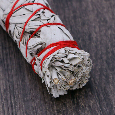 "7"" California White Sage Smudge Stick Wands House Cleansing Negativity Removal 6"