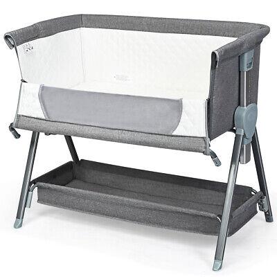 Kinderbett Babybett Beistellbett höhenverstellbar Matratze mit Rollen