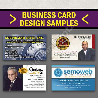 100 Custom Full Color Business Cards | 16Pt | Matte Dull Finish | Free Design 2