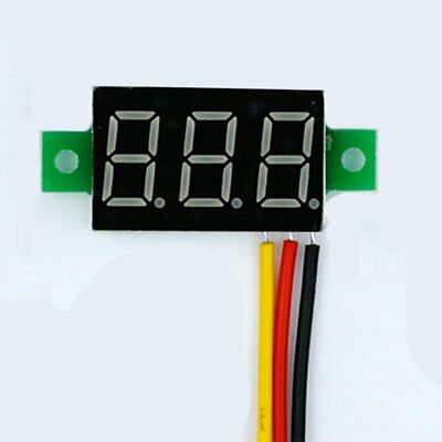 DC 0-100V Wires LED 3-Digital Mini Voltmeter Meter Display Voltage Panel Test 7