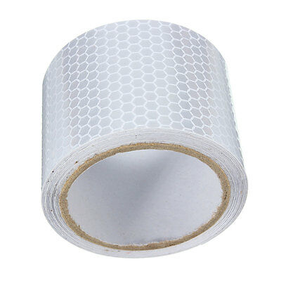 Silver White Car Reflective Safety Warning Conspicuity Roll Tape Film Sticker 2