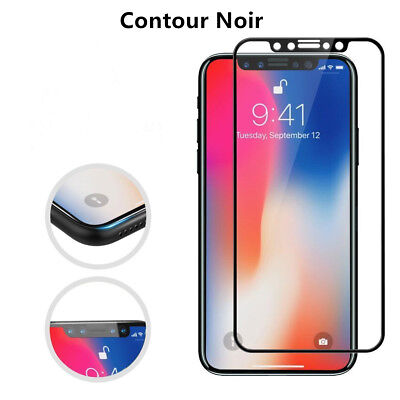 Verre Trempé Intégral Film protection écran iPhone XS Max X XR 6 7 8 + 3D Glass 2