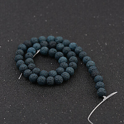 Dyed Volcanic Lava Rock Gemstone Beads Natural Stone Round 8mm Loose DIY Beads 4