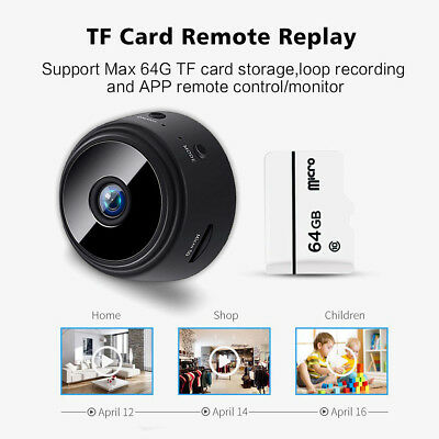 Mini Spy Camera Wireless Wifi IP Home Security HD 1080P DVR Night Vision Remote 12