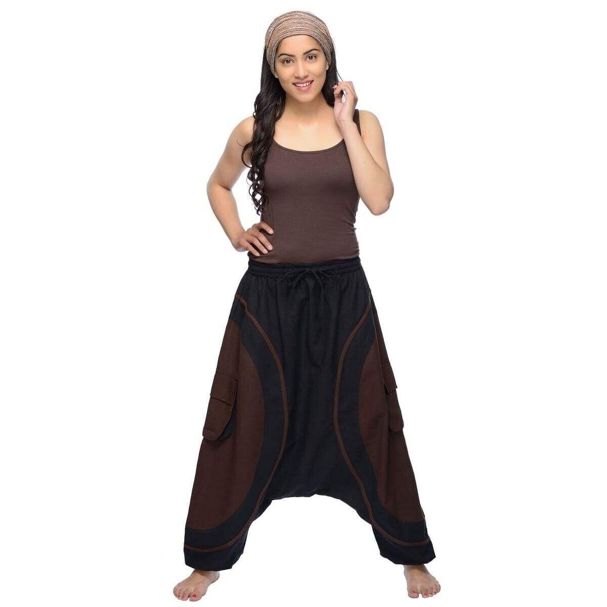 Haremshose Pumphose Aladinhose Pluderhose Yoga Goa Sarouel Baggy Freizeit Shanti