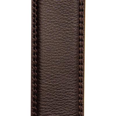 Men's Designer Leather Dress Belt With Sliding Ratchet Automatic Buckle Holeless 10