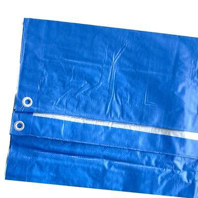 Blue Silver Poly Tarp 5 Mil Water Resistant Outdoor Weather Reversible UV Cover 3