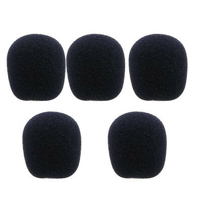 10pcs  Black Microphone Headset Foam Sponge Windscreen Mic Cover 6 Sizes 4