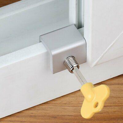 Sliding Door/Window Kids Child Safety Lock Security Slide Stopper Adjustable 2