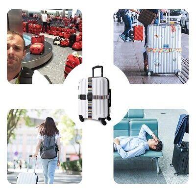 "Heavy Duty TSA Password Travel Luggage Suitcase Secure Coded Lock 80"" Belt Strap 9"
