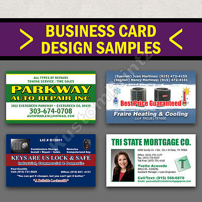 100 Custom Full Color Business Cards | 16Pt | Matte Dull Finish | Free Design 3