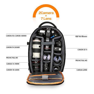 K&F Concept Large Capacity DSLR SLR Camera Backpack Rucksack fr Canon Nikon Sony 5