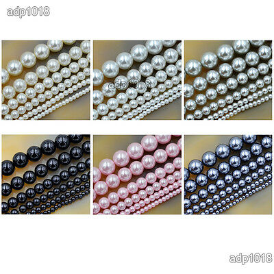 Wholesale Top Quality Czech Glass Pearl Round Beads 16'' 3mm 4mm 6mm 8mm 10mm 3
