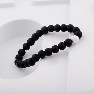 Men Women 8mm Natural Round Gemstone Bead Handmade Beads Bracelets Charm Jewelry 10