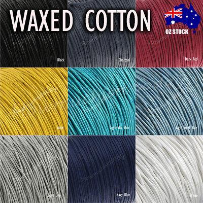 10m x1mm Waxed Cotton Thread Cord Beading Macrame String Bracelet Necklace DIY 4