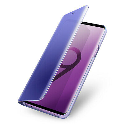 Samsung Galaxy S10 Plus S10e Note9 8 Smart Clear Mirror Leather Stand Case Cover 12