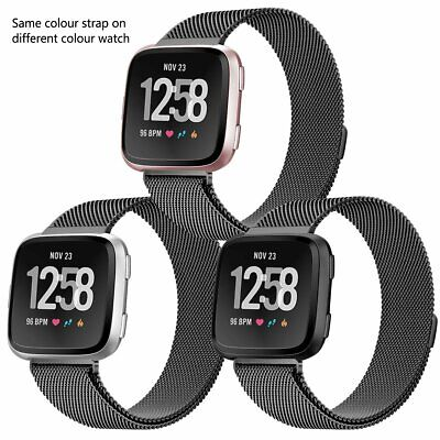 For Fitbit Versa 2/Versa/Versa Lite Milanese Replacement Strap Bands Bracelet UK 5