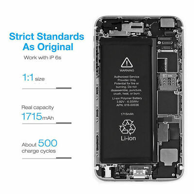 Brand NEW Orignal OEM Replacement iPhone 6S Battery 1715 mAh With Free Tools 3